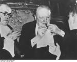 UK Prime Minister Winston Churchill at Potsdam Conference, Germany, Jul 1945