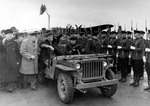 Roosevelt, Churchill, and Molotov at Yalta, Russia (now Ukraine), 3 Feb 1945; note Ford GPW Jeep