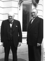 e4982b071d05e ... Winston Churchill and Konrad Adenauer at Bonn