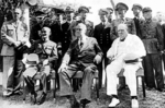 Chiang, Roosevelt, and Churchill at the Cairo Conference, Egypt, Nov 1943, photo 2 of 3