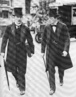 David Lloyd George and Winston Churchill, 1907