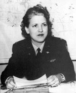 Jackie Cochran in uniform, circa 1943