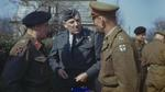 Bernard Montgomery, Arthur Coningham, and Miles Dempsey in conversation, Walbeck, Germany, 22 Mar 1945