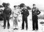 Arthur Coningham, Carl Spaatz, Arthur Tedder, and Laurence Kuter, Apr 1943