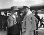 John Curtin and Douglas MacArthur at Fairbairn Airbase, Canberra, Australia, 18 Mar 1944