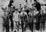 Chiang Kaishek, Dai Li, and others touring a training camp for military police, China, 1940s