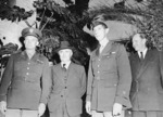 Dwight Eisenhower, François Darlan, Mark Clark, and Robert Murphy at Algiers, Algeria, 13 Nov 1942