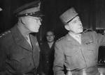 Dwight Eisenhower and Jean de Lattre de Tassigny, 1944