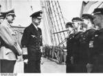 Grand Admiral Dönitz and Hitler Youth leader Axmann with Hitler Youth sailors aboard training vessel Horst Wessel, Nov 1943