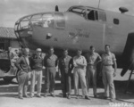 Doolittle raiders posing with B-25 Mitchell bomber