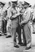 Henry Arnold and James Doolittle at Bolling Field, Washington DC, United States, 27 Jun 1942