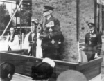 Air Chief Marshal Lord Dowding laying the foundation stone at the Battle of Britain Memorial Chapel at Biggin Hill, London, England, United Kingdom, 24 Jul 1951