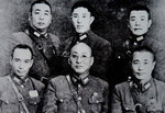 Generals of the Chinese Expeditionary Force to Burma, 1942; note Du Yuming right-most in the front row