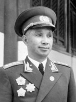 Su Yu at an event at Tiananmen Square, Beijing, China, 1 Oct 1955