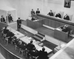 Eichmann listening as he was sentenced to death by Israeli court, Jerusalem, Israel, 15 Dec 1961