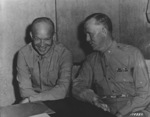 Dwight Eisenhower and George Marshall meeting in Algiers, Algeria, Sep 1943
