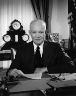 US President Dwight Eisenhower at the White House, Washington DC, United States, 29 Feb 1956