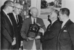 Dwight Eisenhower receiving the Civitan International World Citizenship Award, 9 Jun 1966
