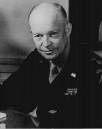 Eisenhower at his headquarters, 1 Feb 1945