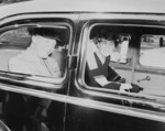 Dwight and Mamie Eisenhower in a car, United States, 18 Jun 1945