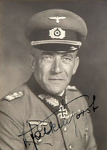 Portrait of Nikolaus von Falkenhorst, 1940; note signature