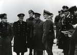 German officers Nikolaus von Falkenhorst, Robert Morath, and Eberhard von Zedlitz with Japanese military attaché Makoto Onodera visiting the Fjell Festning fortification in Norway, 26 Dec 1942