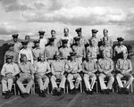 Ford aboard Monterey, seated second from the right in the front row, 24 Oct 1943
