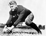 Gerald Ford on the football field at the University of Michigan, 1933
