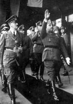 Adolf Hitler and Francisco Franco, Hendaye train station, France, 23 Oct 1940, photo 1 of 2