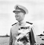 Admiral Bruce Fraser aboard HMS Duke of York, Guam, Aug 1945