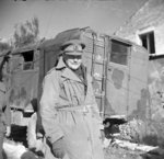 Lieutenant General Bernard Freyberg, commanding officer of Indian and New Zealand Division at Cassino, Italy, 3 Jan 1944