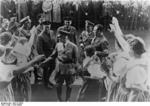 Frick being welcomed by a crowd, Sudetenland, Czechoslovakia, 23 Sep 1938, photo 3 of 3