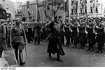 A para-military troop welcoming Frick to Sudetenland, Czechoslovakia, 23 Sep 1938