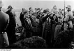 Frick and others saluting during a ceremony in Sudetenland, Czechoslovakia, 23 Sep 1938