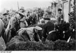 Frick at a cemetery in Sudetenland, Czechoslovakia, 23 Sep 1938, photo 2 of 5