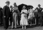 Duke and Duchess of York at Eagle Farm Racecourse, Brisbane, Australia, 7 Apr 1927