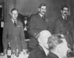 Prince Albert of the United Kingdom, Major General Hugh Trenchard, and Colonel C. L. Courtney at the Independent Air Force Dinner, 14 Jul 1919