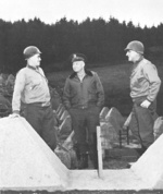 Omar Bradley, Dwight Eisenhower, and Leonard Gerow, 1945