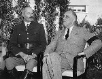 Henri Giraud and Franklin Roosevelt at Casablanca, French Morocco, 19 Jan 1943