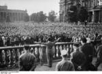 Joseph Goebbels speaking at Lustgarten, Berlin, Germany, 1932