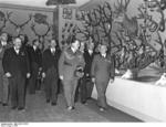Göring touring an international hunting exhibition, Berlin, Germany, 1937