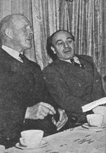 High Commissioner Lord Gort and newspaper publisher Gershon Agron in conversation, 30 Mar 1945