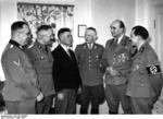 Greiser speaking to he one millionth German resettler of Wartheland, Posen, Germany, 16 Mar 1944