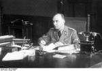 Gauleiter Arthur Greiser at his desk, Posen, Wartheland, Germany (now Poznań, Poland), 11 Oct 1939