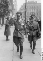 Arthur Greiser in Posen, Wartheland, Germany (now Poznań, Poland) shortly after German conquest, 2 Oct 1939