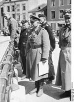 German General Heinz Guderian and other officers in Bouillon, Belgium, May 1940