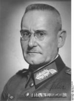 Signed portrait of Franz Halder, 1938