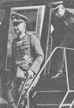 German General Franz Halder arriving in Finland, 1940-1941