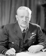 Portrait of Air Chief Marshal Harris of RAF Bomber Command, taken at his HQ at High Wycombe, Buckinghamshire, England, United Kingdom, 24 Apr 1944