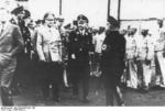 Interior Minister Wilhelm Frick and SS chief Heinrich Himmler touring the Sachsenhausen concentration camp in Oranienburg, Brandenburg, Germany, 1936, photo 2 of 2
